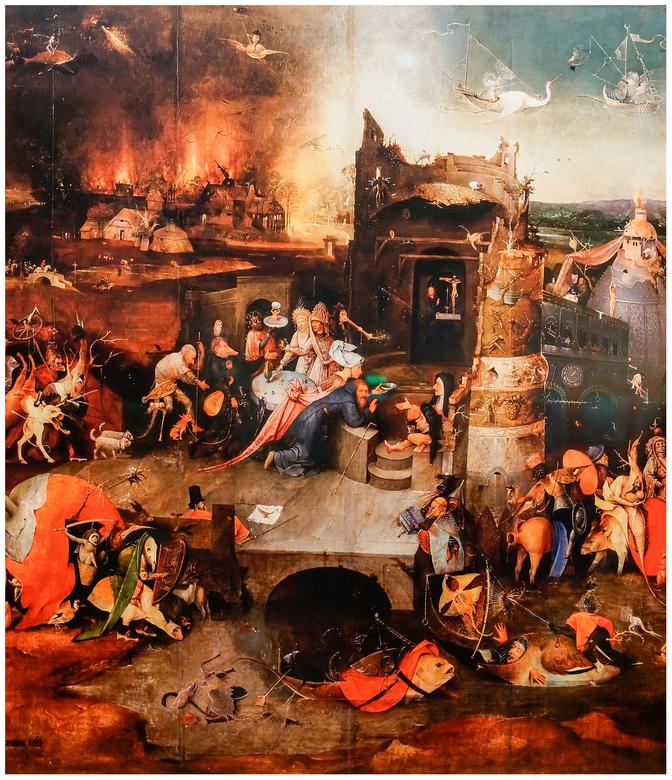 Tentoonstelling Jeroen Bosch - In april naar de tentoonstelling geweest van Jeroen Bosch. Daar mag je natuurlijk niet fotograferen, maar in het Jheron