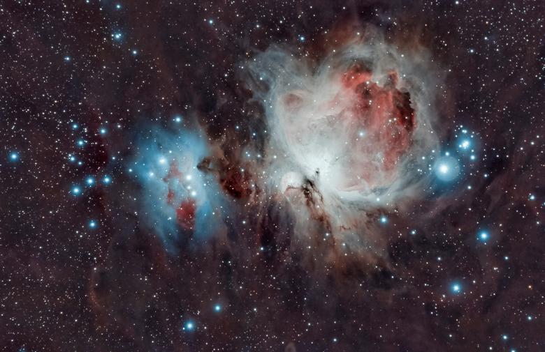 M42 Orion - Opnieuw gestacked met een nieuw astro programma (Astropixelprocessor) van Nederlandse makelij.<br /> <br /> 10x 300s<br /> 10x 120s<br