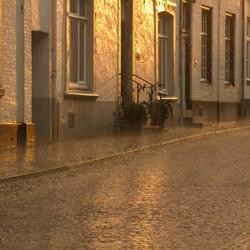Avondzon en regen