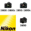 Nikon D800 series (D800, D810, D850)
