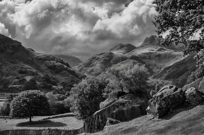 Langdale boulders -
