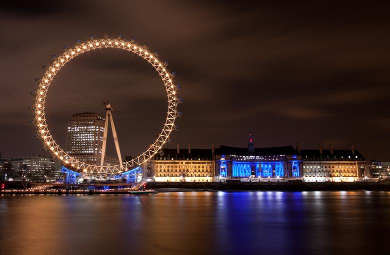 London Eye at Night - De London Eye in de avond afgelopen weekend.