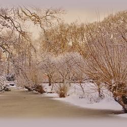 Zonsopkomst na een sneeuwbui
