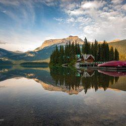 Evening Sun at Emerald Lake
