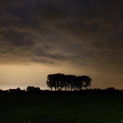 lichtwolken om middernacht