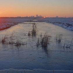 Winters Rotterdam weerkaatst