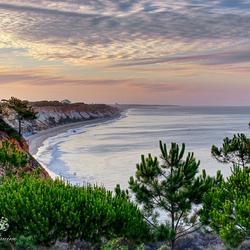 Uitzicht vanaf het balkon in Portugal de Algarve