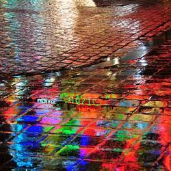 waterplas op het plein