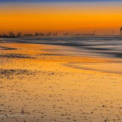 Maasvlakte vanaf Ter Heijde strand