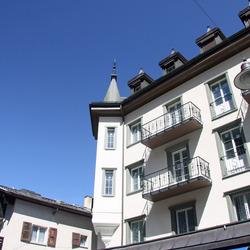 gerenoveerde gevel in Zermatt