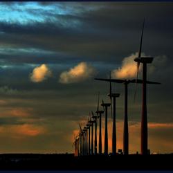 winterlicht op windenergie