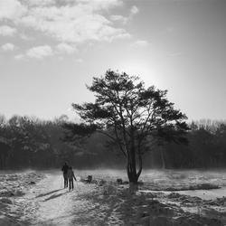 Langlaufers in 'Het Paradijs'
