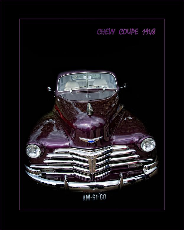 CHEVY COUPE  1948 - opname van een oude chevy coupe van 1948,achtergrond zwart gemaakt die was te rommelig...