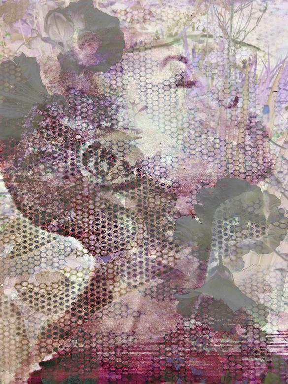 Schoonheid in verscheidenheid - Collage van meerdere foto&#039;s.<br /> model/bloemen/behangpapier<br /> bewerking.