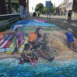 3d streetart in Den Helder