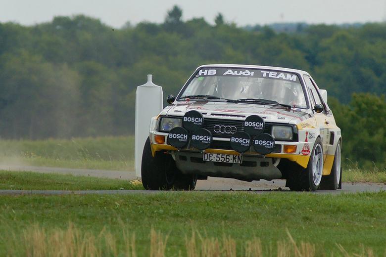 Quattro cornering - Sports Quattro at ADAC Eifel rally