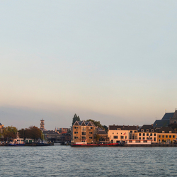 PANORAMA ~ Skyline Dordrecht in last light