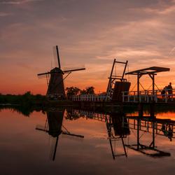 Sunset aan de Kinderdijk
