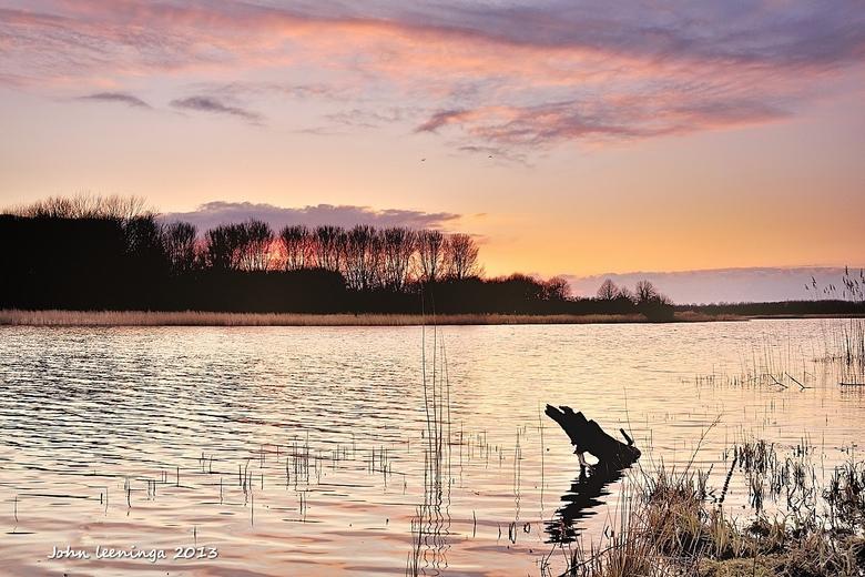 Zonsondergang Twiske - Wederom een zonsondergang in recreatiegebied Twiske