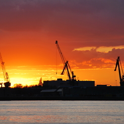 Zonsondergang Rotterdamse Haven