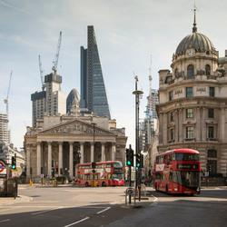 Londen - The City - Cornhill - Stock Exchange met The Cheesgrate
