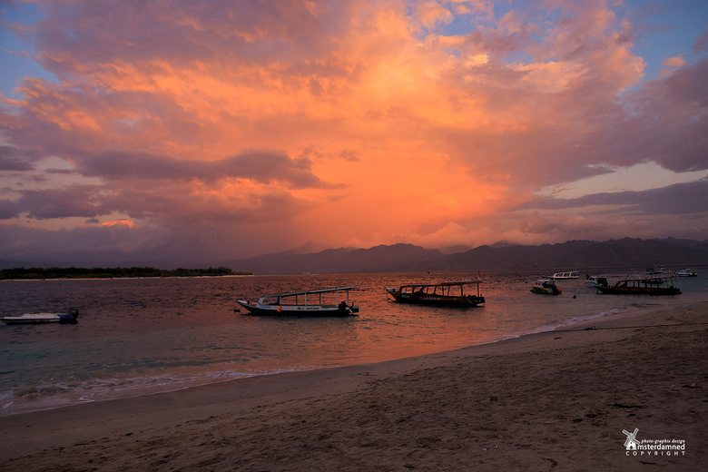 Gili Trawangan - Lekker op vakantie in Indonesie en genieten van een zonsondergang op het eiland Gili Trawangan, waar de tijd lijkt te hebben stilgest