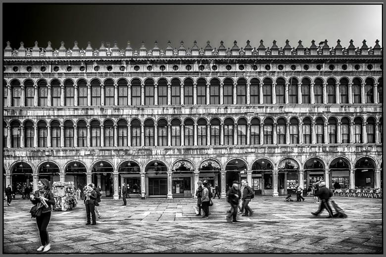 San Marco plein  - Het san Marco plein in Venetié<br /> <br /> Het was in maart dit jaar , en erg koud in Venetië , de mensen dragen jassen , en van