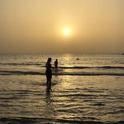 Zonsondergang Tel Aviv strand