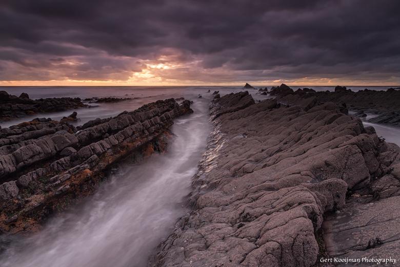 Welcombe Mouth Beach - Aan de kust van Welcombe, Devon UK. Dit was rond zonsondergang. Prachtige kust.