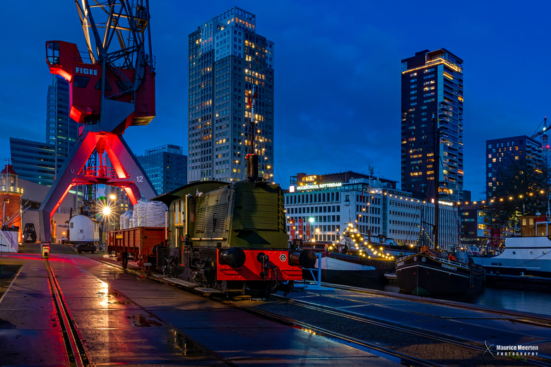 Rotterdam - Leuvehaven by night - Rotterdam - Leuvehaven by night