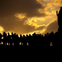 Tegenlicht in Lourdes
