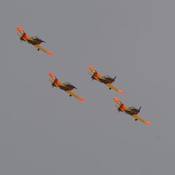 Vliegshow tijdens luchtmachtdagen