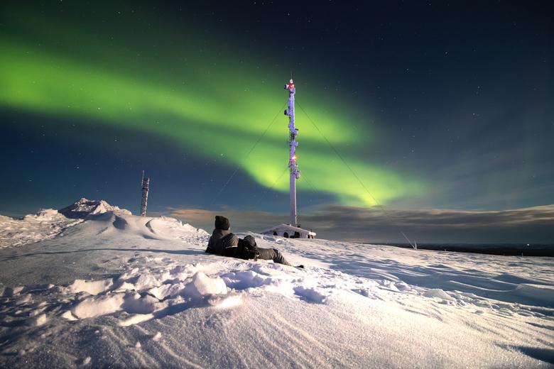 Noorderlicht Fins Lapland - Tijdens onze trip naar Fins Lapland het noorderlicht mogen fotograferen bij een temperatuur van -25 met een stevige wind.