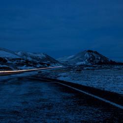 IJsland bij avond