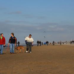 uitwaaien op het Noordwijkse strand