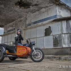 Portret van een motorfiets