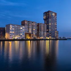 Schiehaven Rotterdam, bij nacht