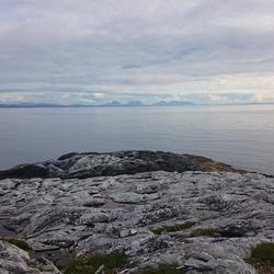 In Noorwegen aan zee.