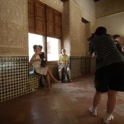 Kijk ons toch in dat mooie Alhambra