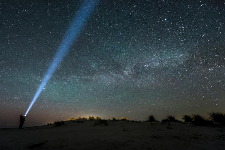 Schiermonnikoog, melkweg plus een vleug noorderlicht