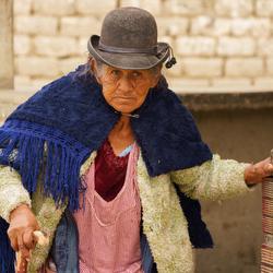 Vrouw in Bolivia