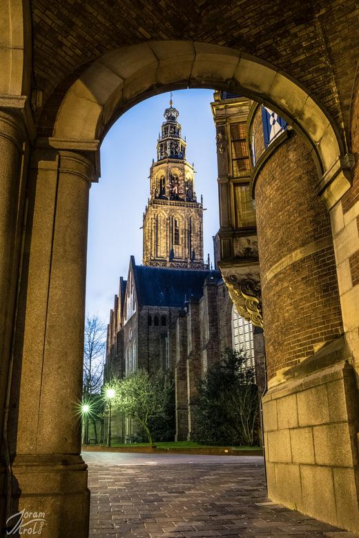 Groningen, wereldstad - Een doorkijk naar de Martinitoren