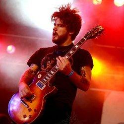 Colorful guitarist