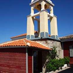 Kerktoren in Molyvos