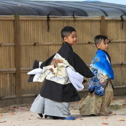 spelende kinderen in Japan