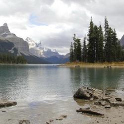Jasper, Lake Maligne, bij Spirit Island in Canada