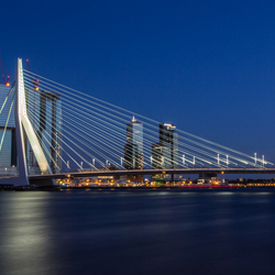 Erasmusbrug in the blue hour - Part Two