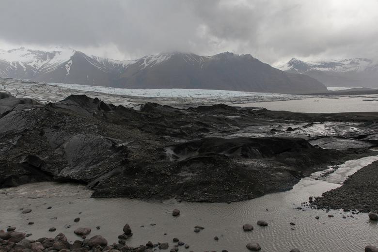 Woest en ledig  - Skaftafell Nationaal Park, IJsland. (kleurenfoto)