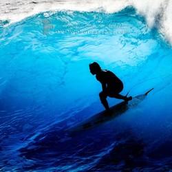 Blue surfing