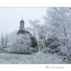 Kerk van Terkaple in wintertooi